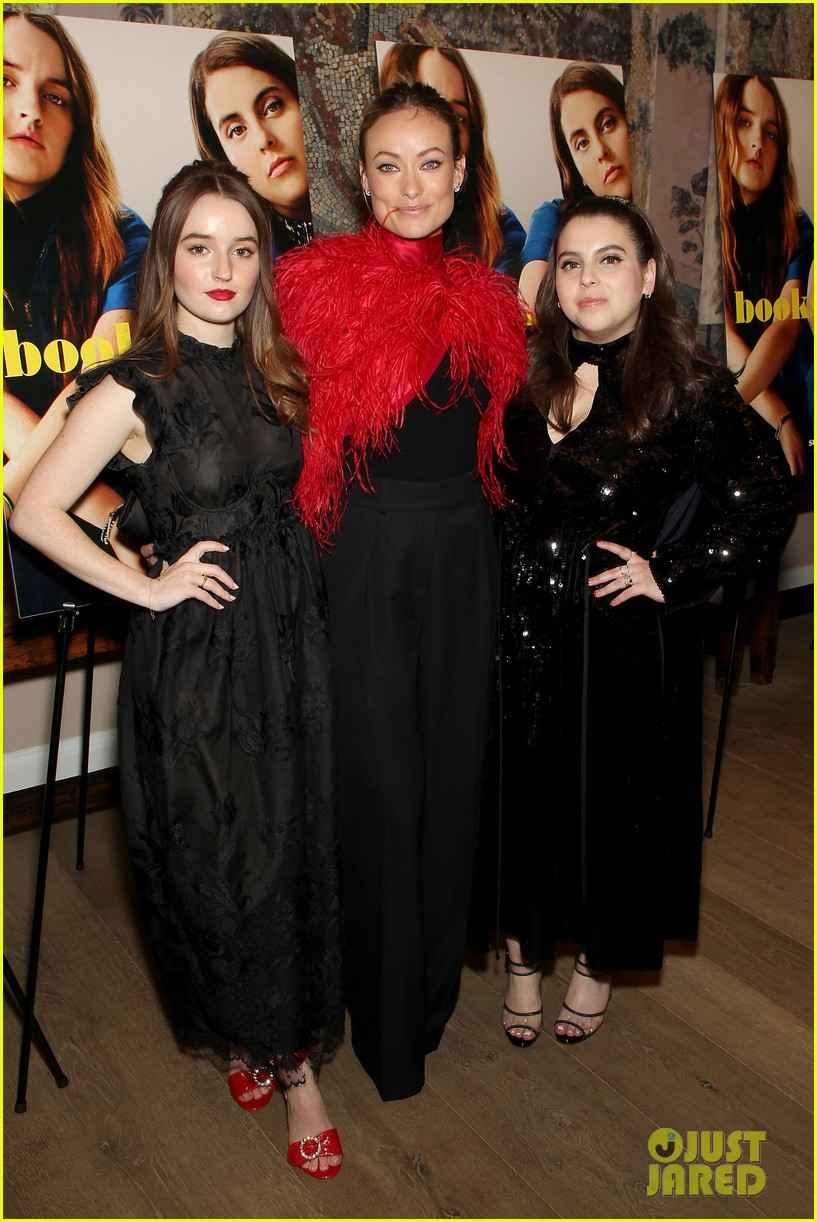 kaitlyn dever beanie feldstein dress in all black for booksmart nyc screening 03