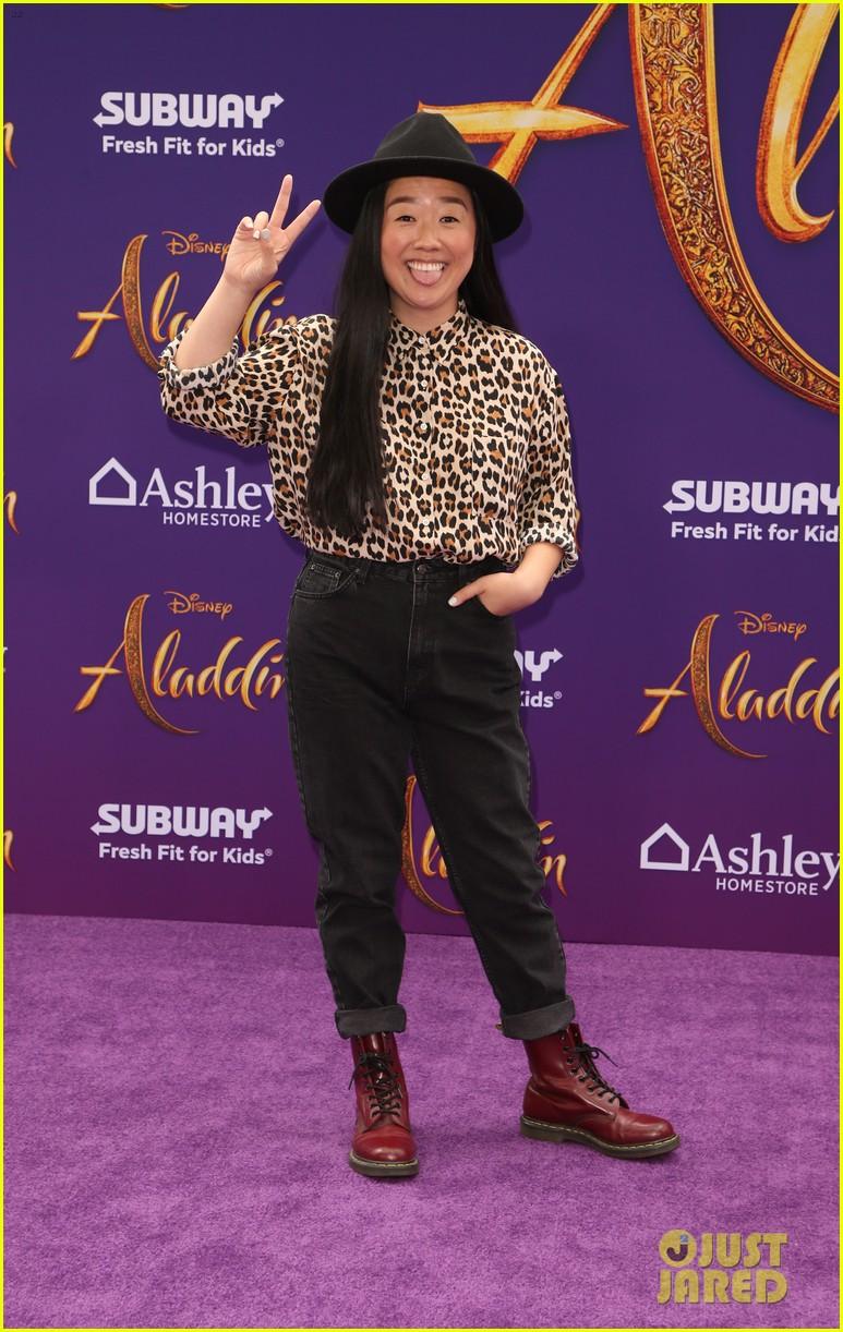 katie stevens meghann fahy step out of scarlett fashion closet at aladdin premiere 02