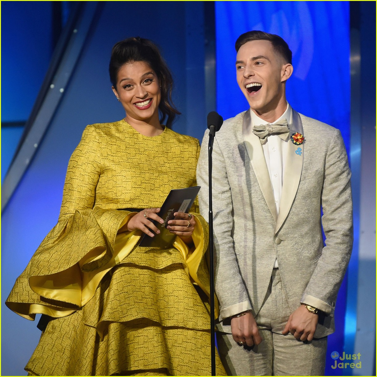 lilly singh adam rippon andrea russett glaad media awards 02