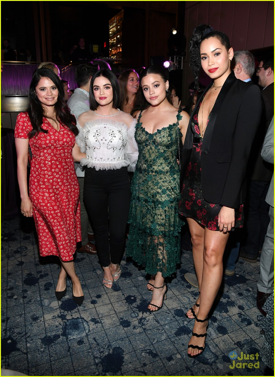 lucy hale ashleigh charmed legacies more cw after party 01