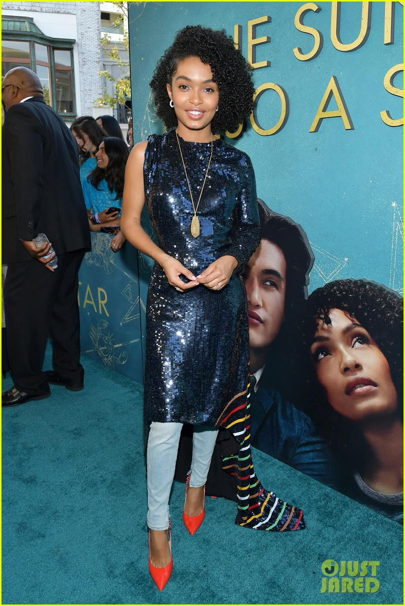 yara shahidi charles melton step out for the sun is also a star premiere 02