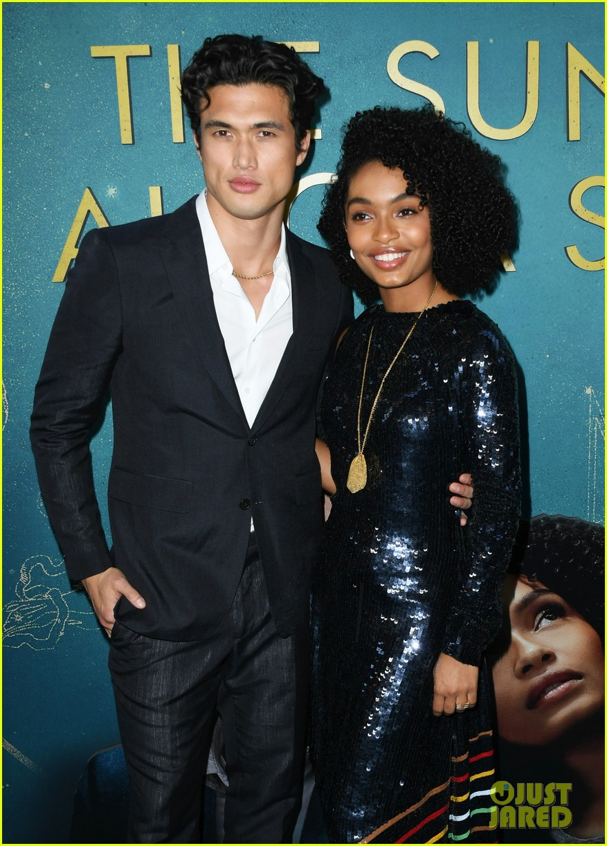 yara shahidi charles melton step out for the sun is also a star premiere 28