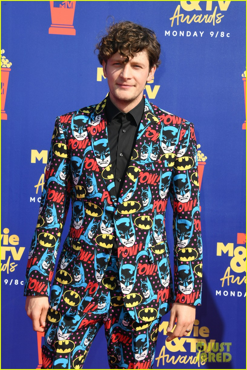 brett dier batman suit haley lu richardson mtv movie tv awards 06