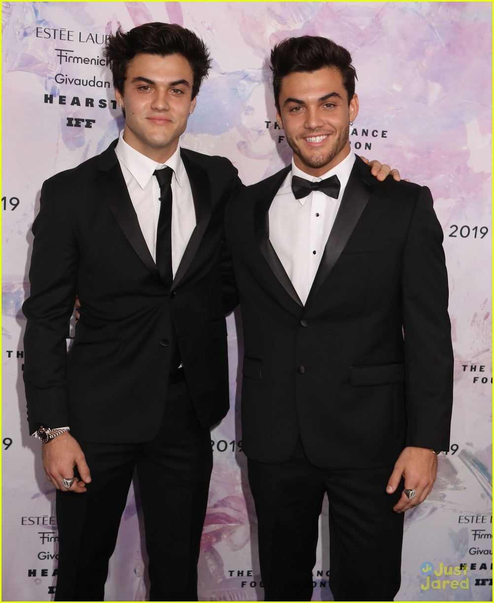Ethan & Grayson Dolan Wear Bowties For Fragrance Foundation Awards