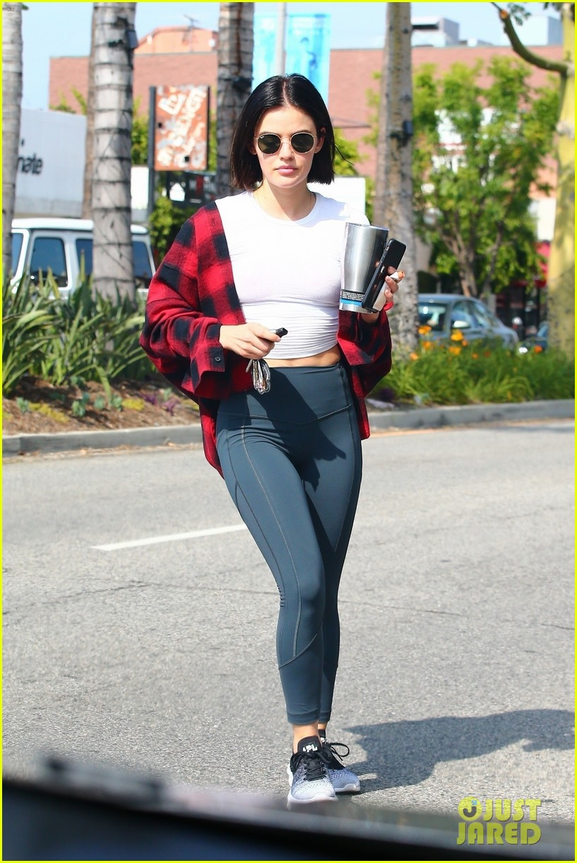 lucy hale workout studio city cup 01