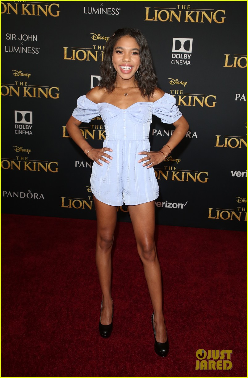 aubrey joseph nia sioux teala dunn more step out for lion king premiere 03