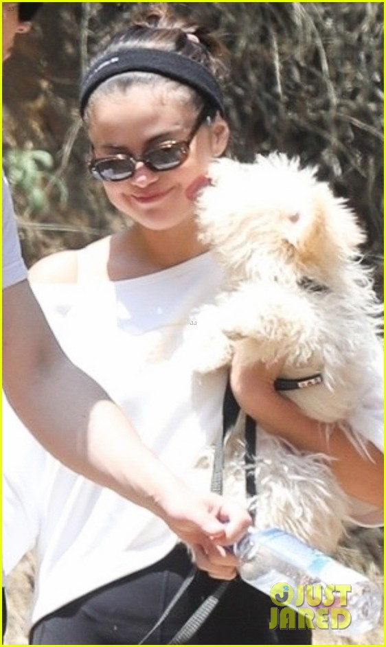 selena gomez goes for a hike with new puppy friends 04