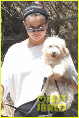 selena gomez goes for a hike with new puppy friends 06