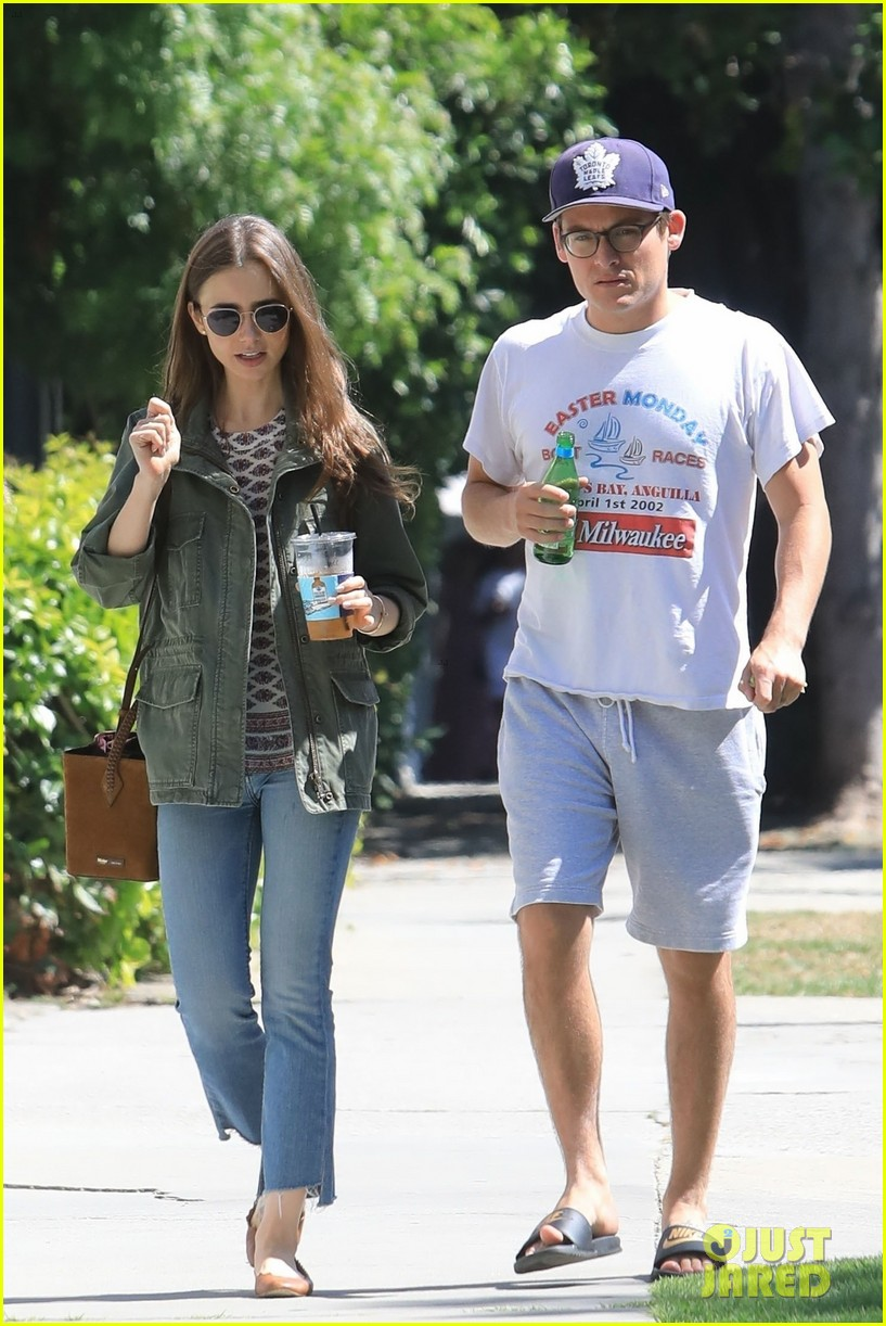 lily collins kevin zegers lunch meetup pics 01