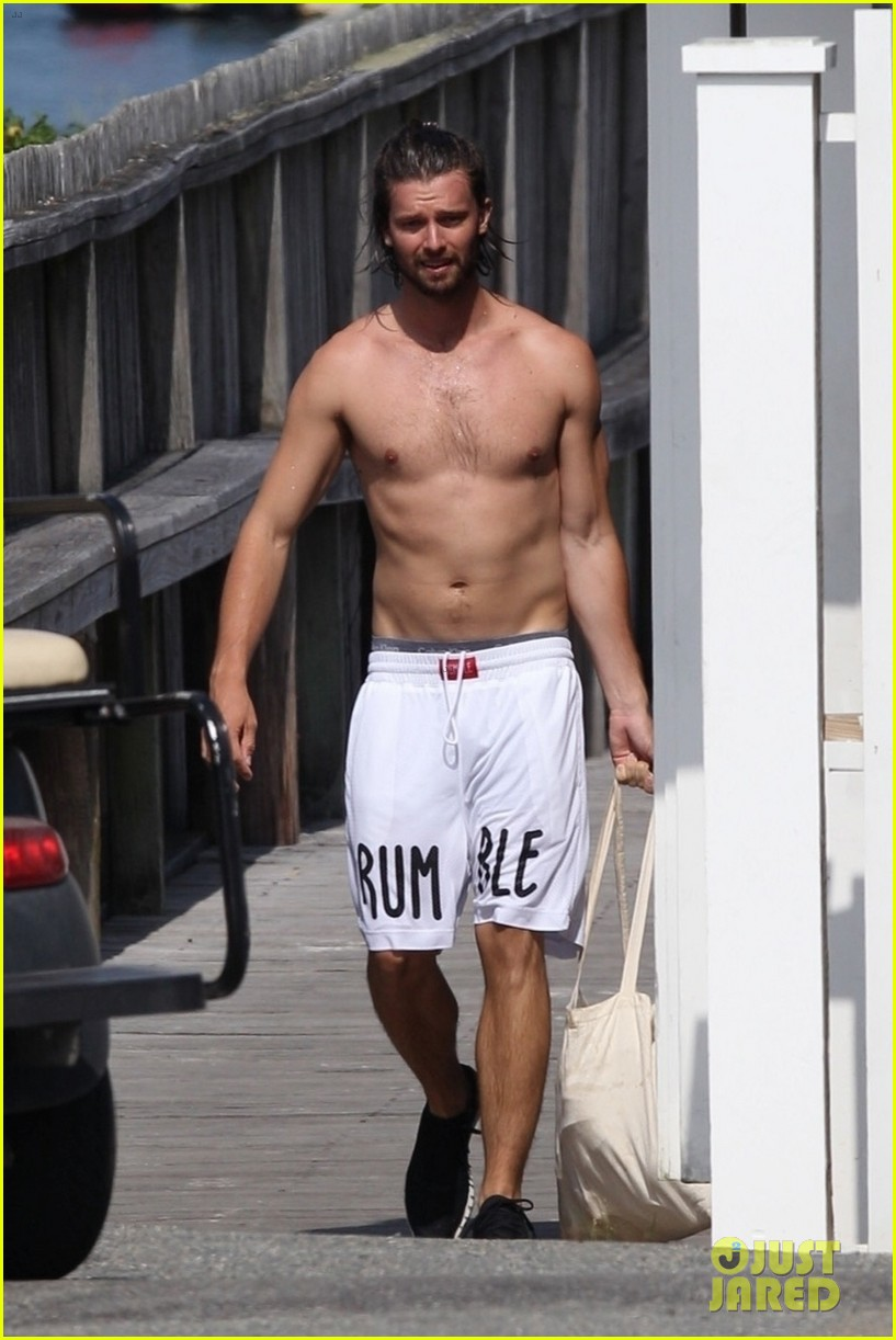 patrick schwarzenegger goes shirtless on vacation 03