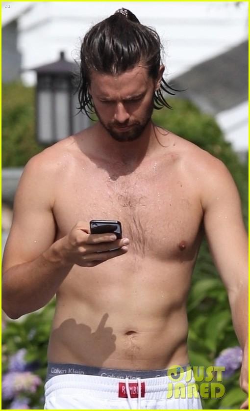 patrick schwarzenegger goes shirtless on vacation 04