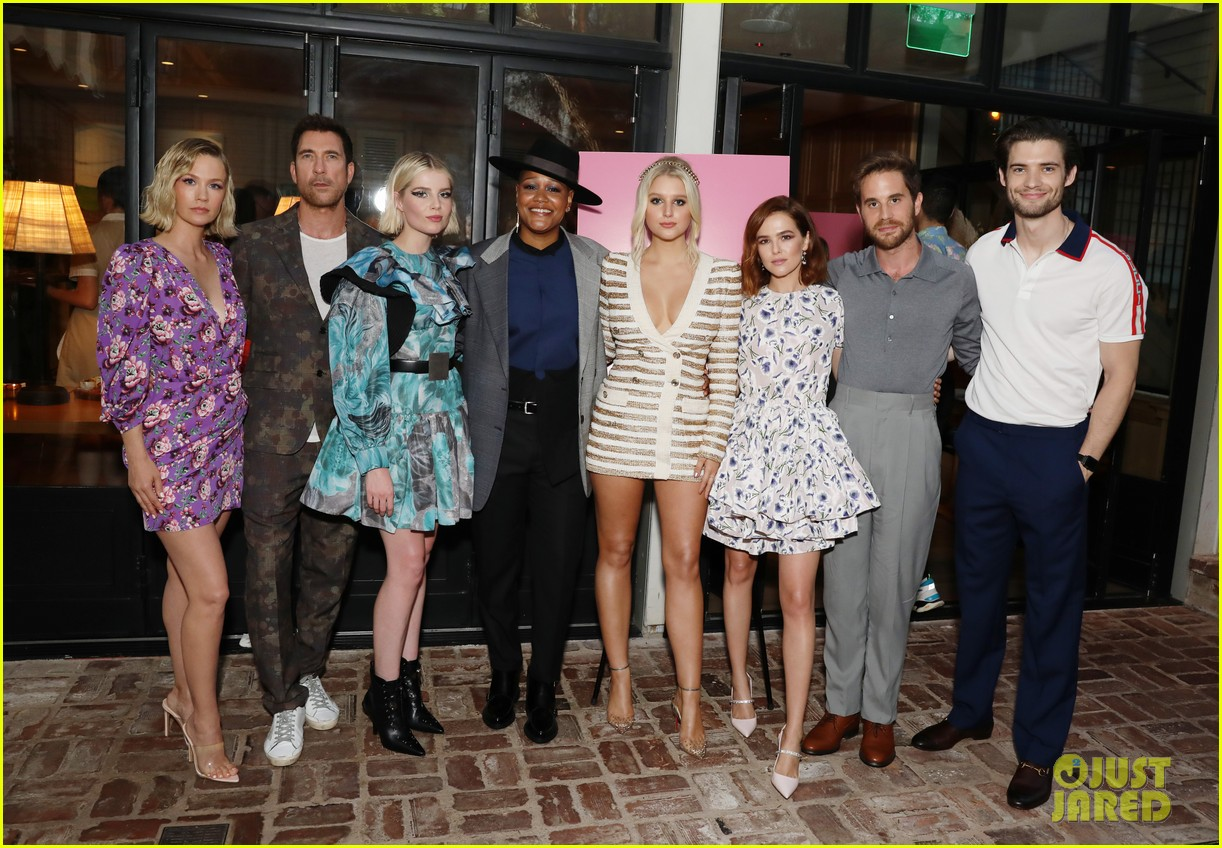 ben platt zoey deutch lucy boynton the politician la event 05