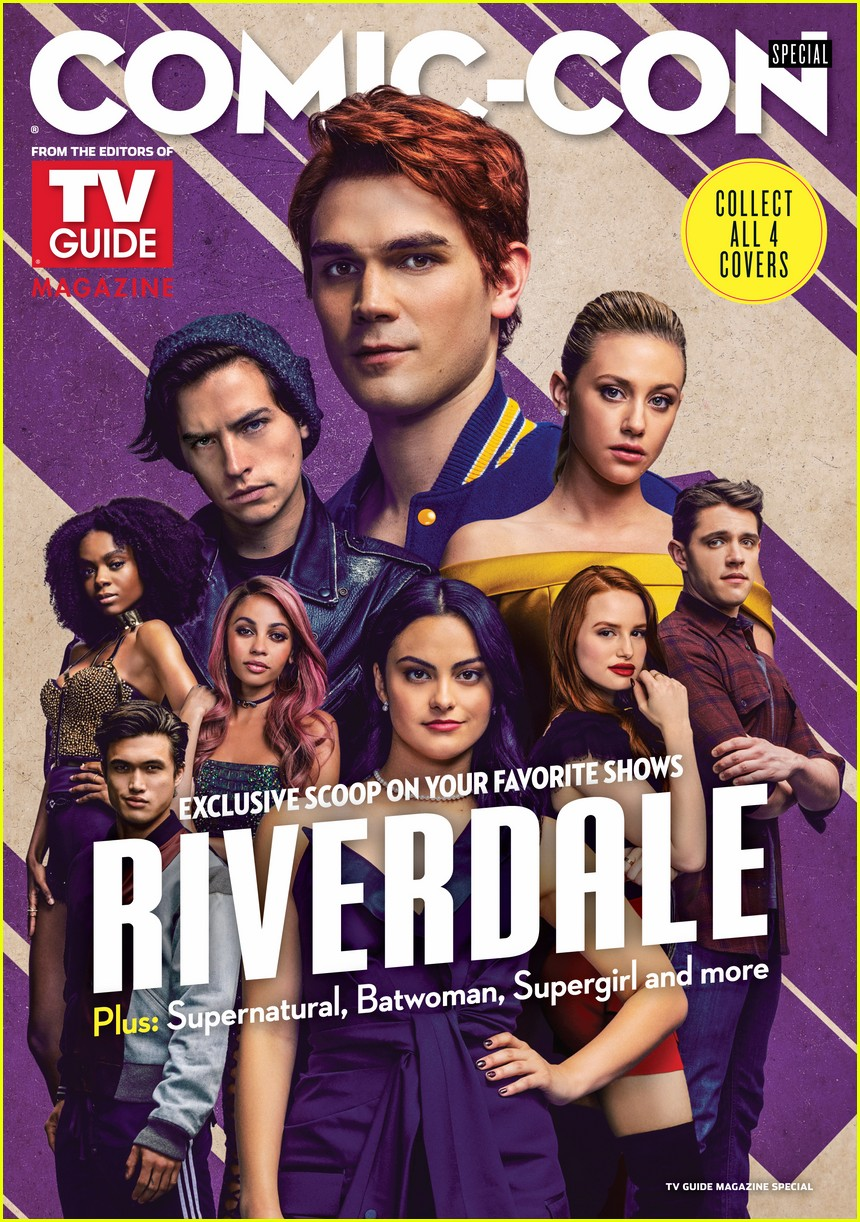 riverdale cast cover special comic con issue of tv guide magazine 01