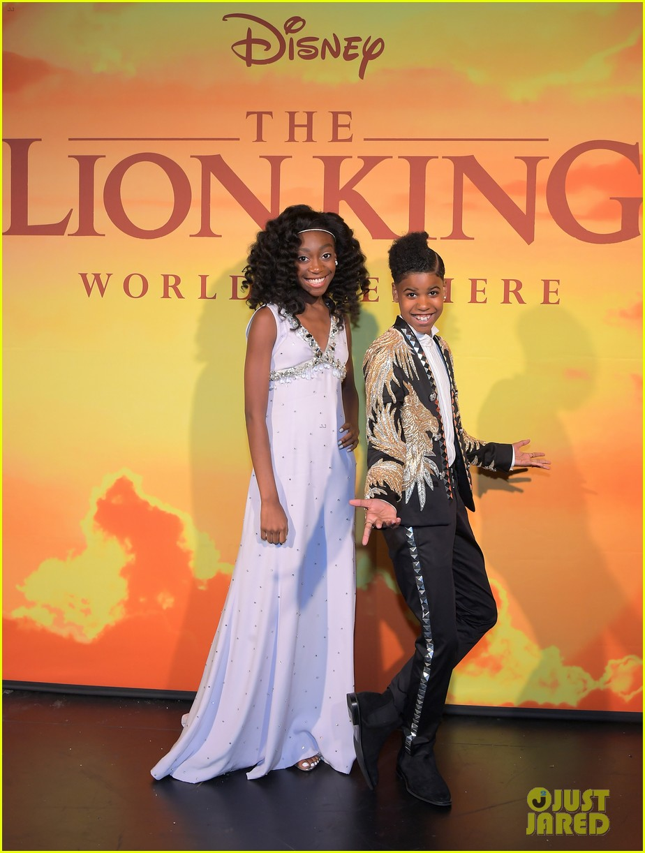 shahadi wright joseph finally met beyonce at lion king premiere 05