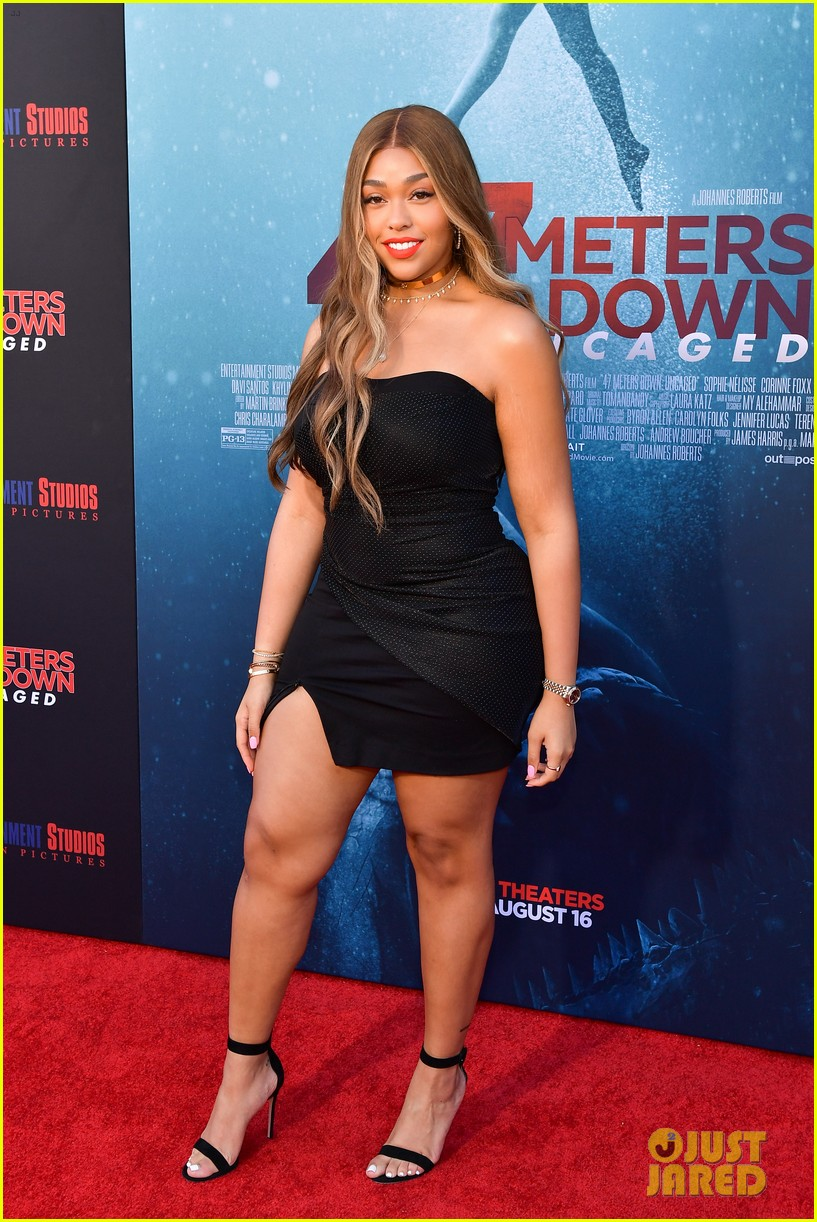 corrine foxx sistine stallone get family support at 47 meters down uncaged premiere 02