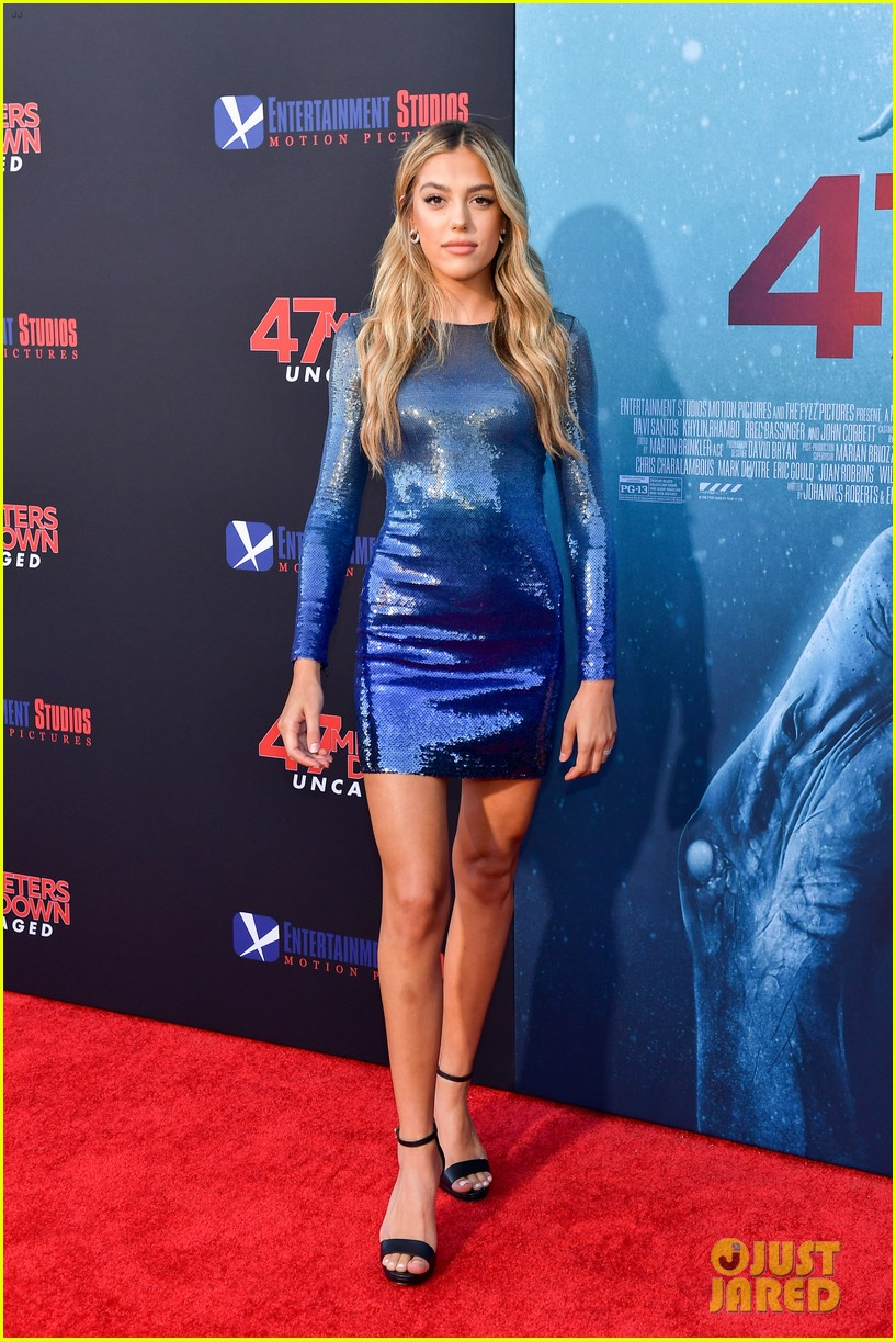 corrine foxx sistine stallone get family support at 47 meters down uncaged premiere 03