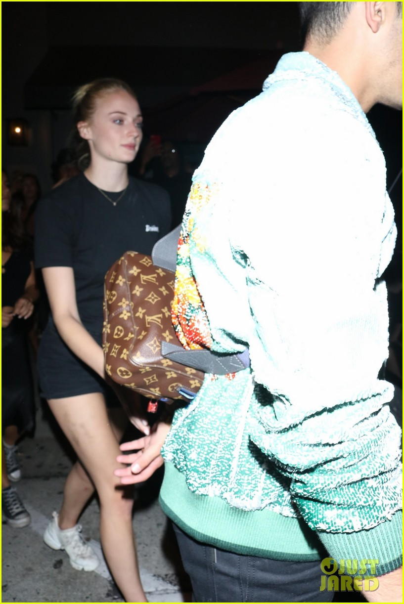 sophie turner joins the jonas brothers at craigs 36