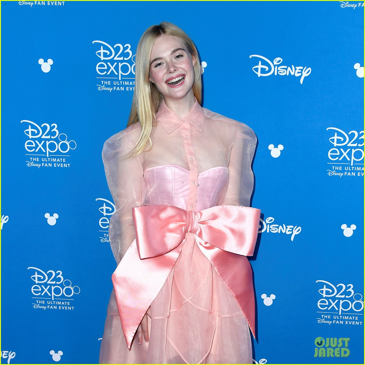 Elle Fanning Promotes Maleficent 2 At D23 Expo 2019 Photo