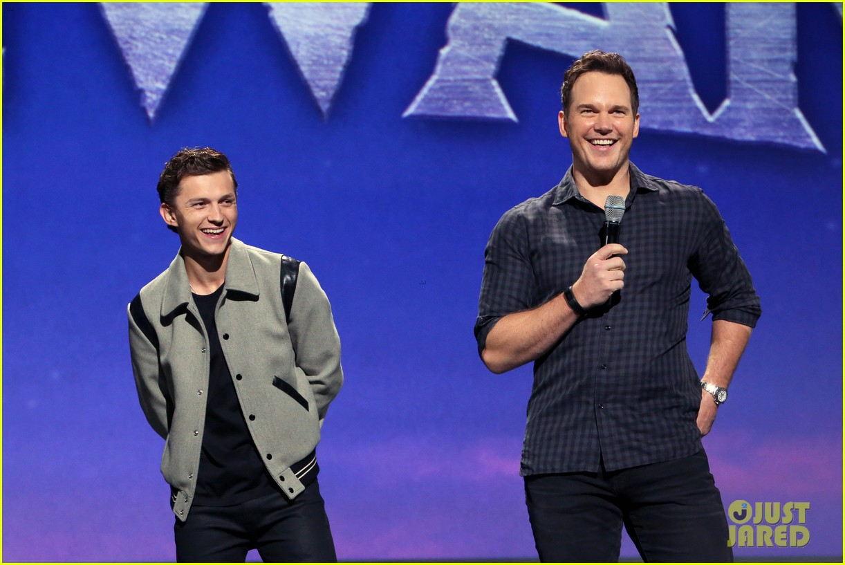 tom holland chris pratt onward d23 expo 19