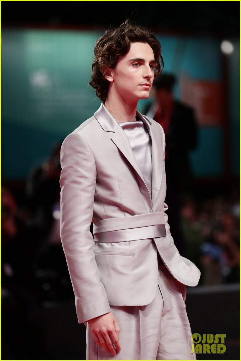 timothee chalamet lily rose depp the king venice premiere 04