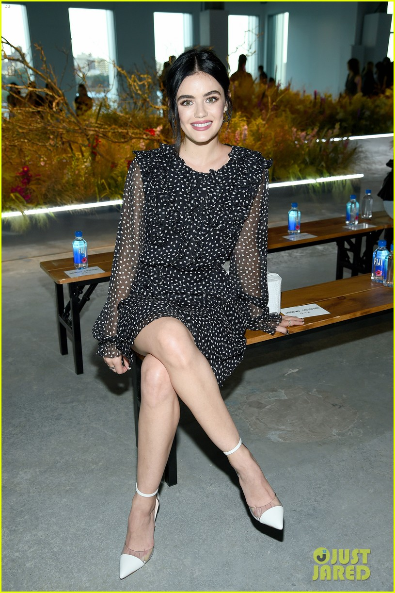 lucy hale attends jason wu runway show during nyfw 03