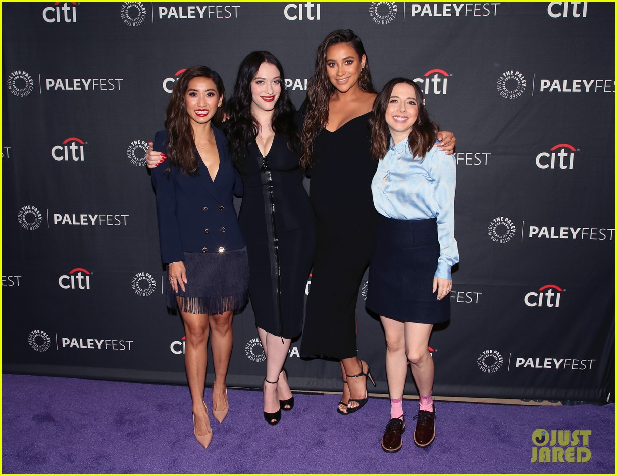 shay mitchell dollface cast at paley 30