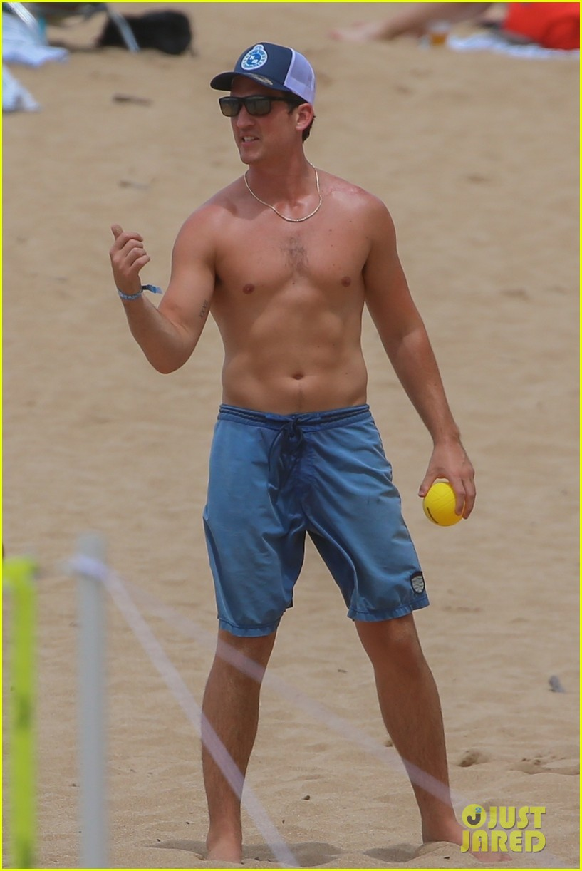miles teller nina dobrev at the beach hawaii 02