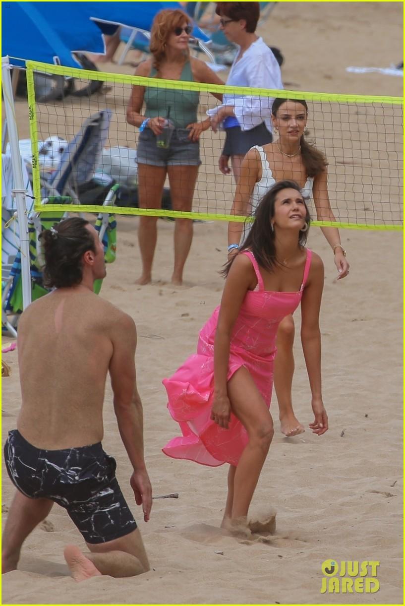 miles teller nina dobrev at the beach hawaii 13