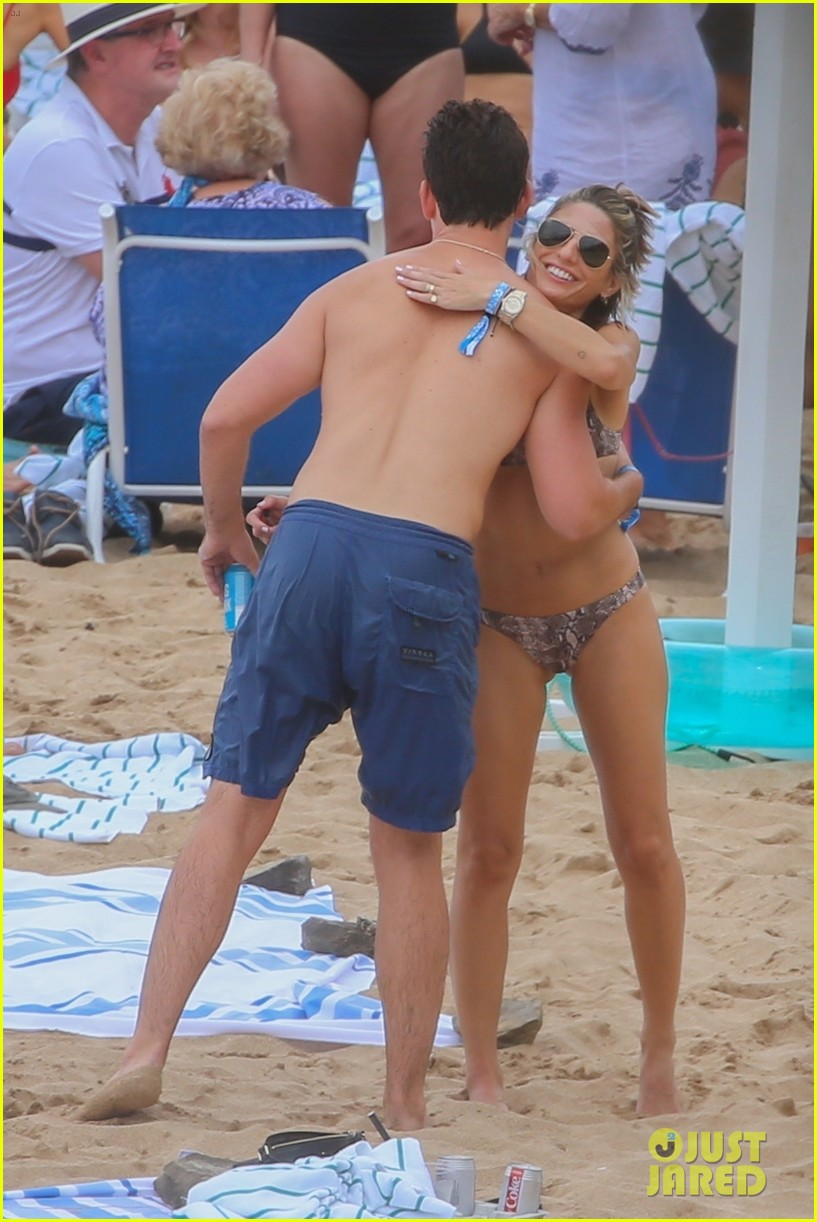 miles teller nina dobrev at the beach hawaii 19