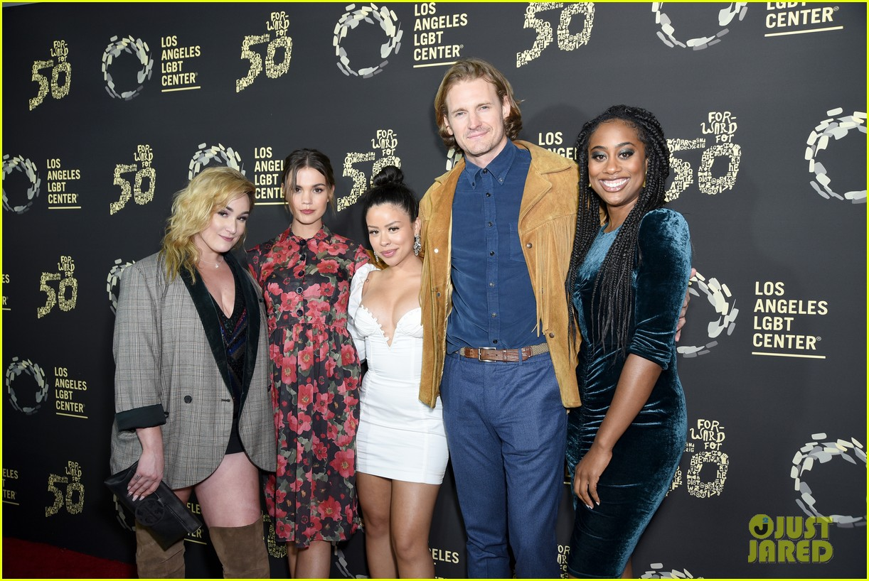 maia mitchell cierra ramirez good trouble cast celebrate la lgbt center 50th anniversary 03