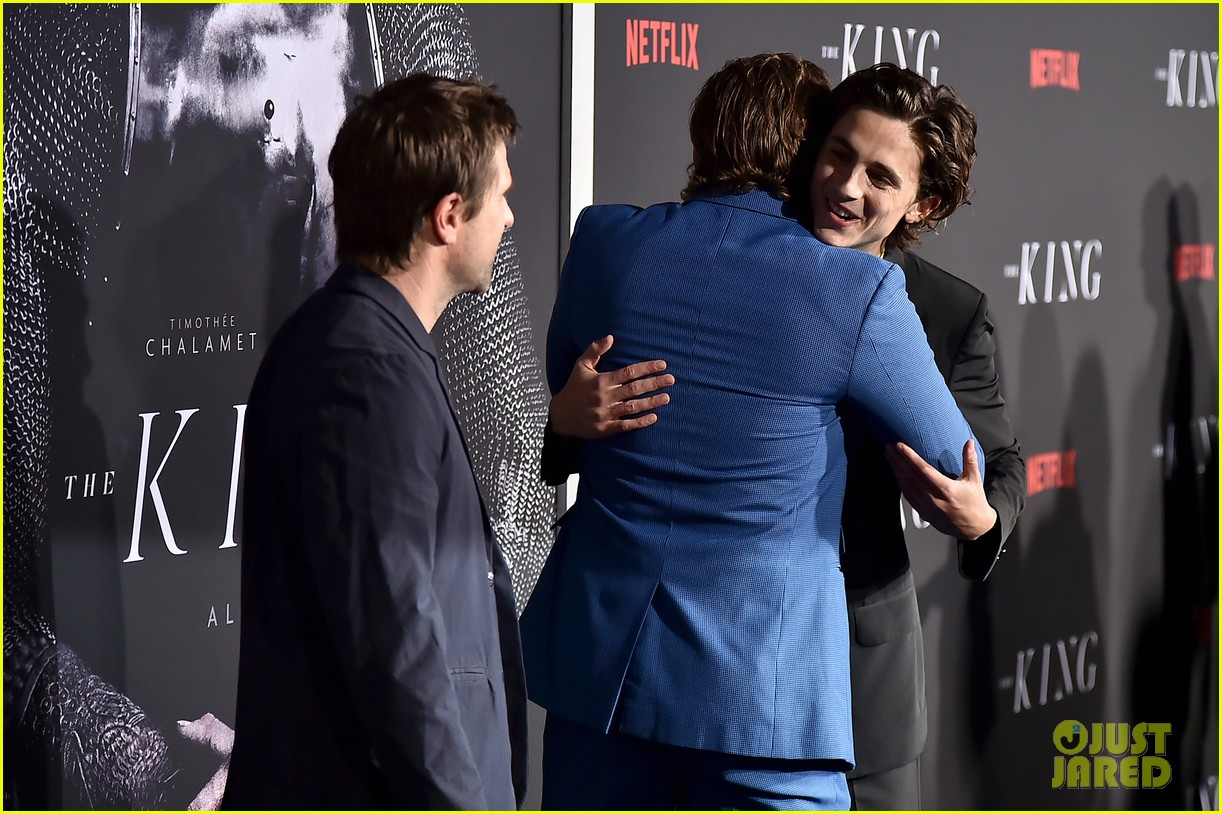 timothee chalamet lily rose depp the king premiere 12