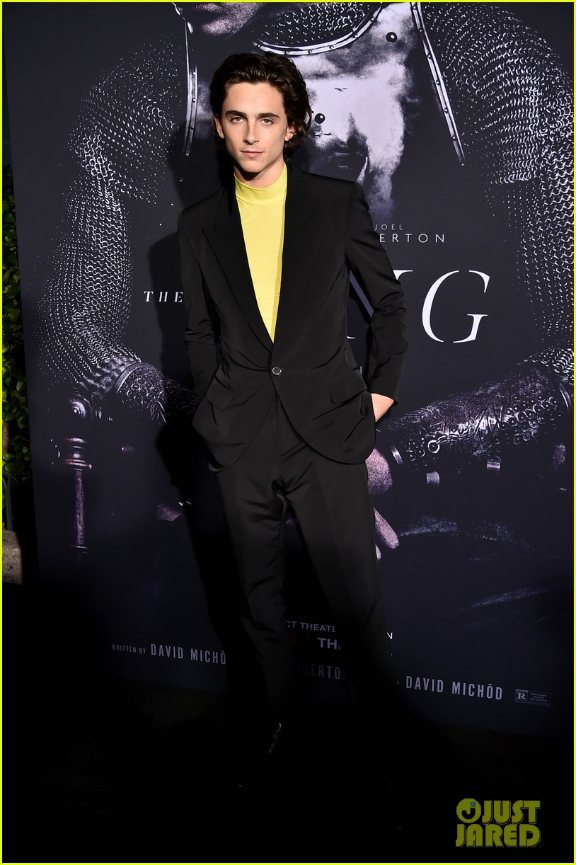 timothee chalamet lily rose depp the king premiere 14