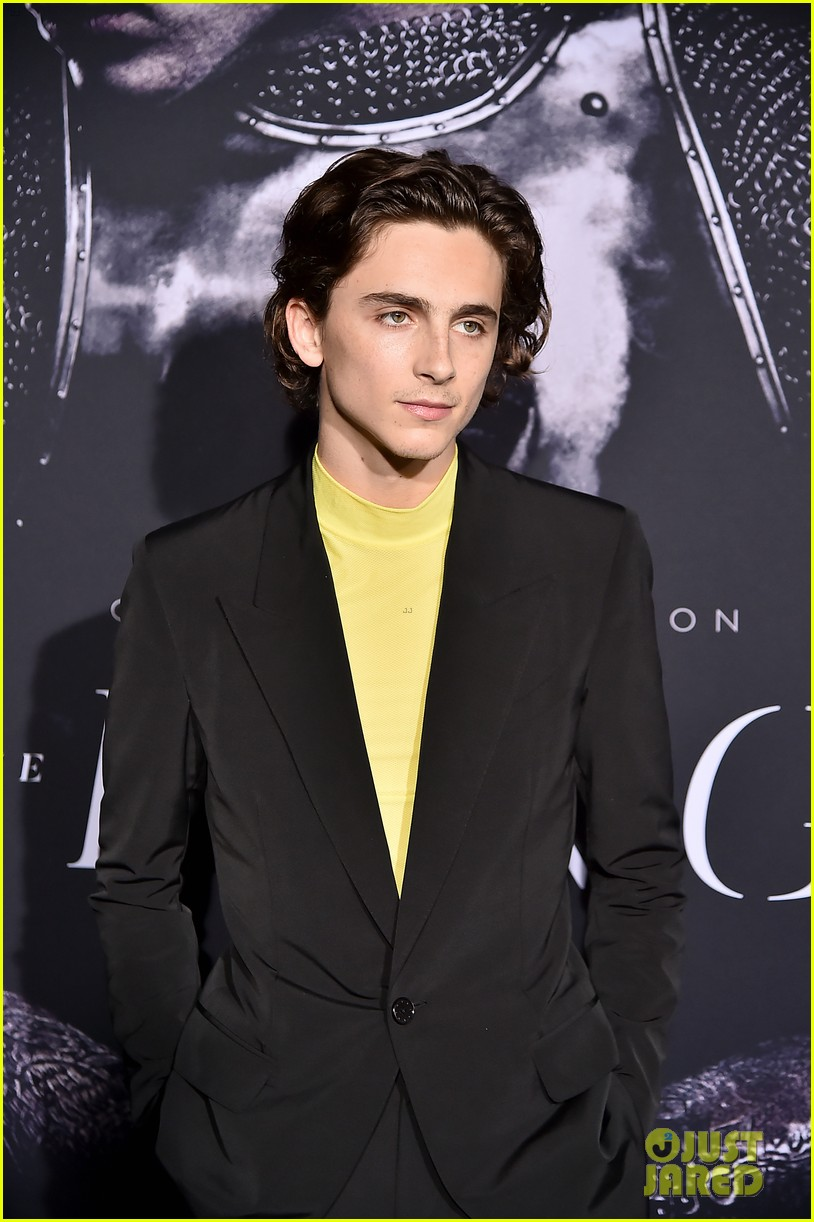 timothee chalamet lily rose depp the king premiere 26