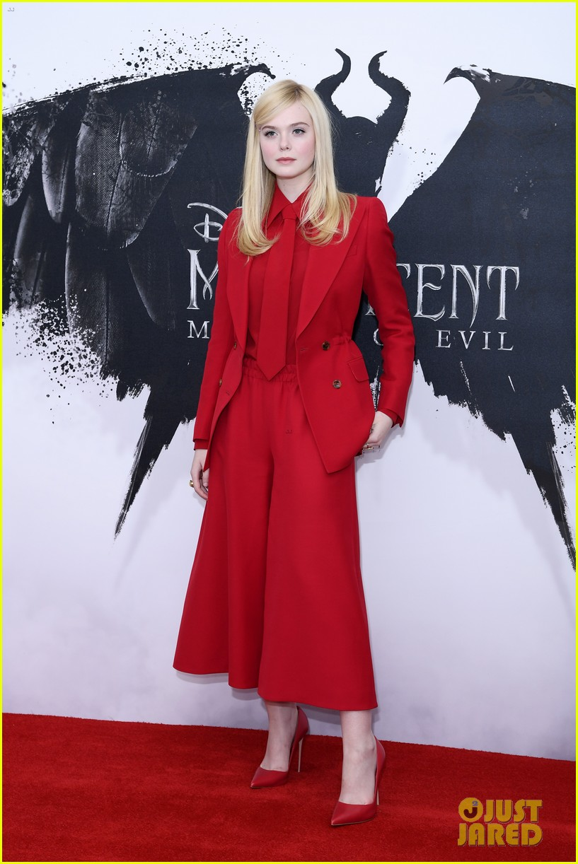 Elle Fanning Goes Bold In Red For Maleficent 2 Photo