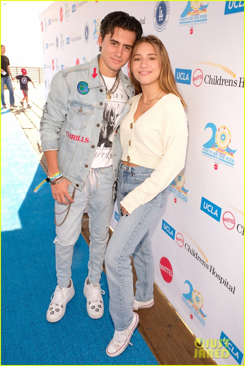 isaak presley kenzie ziegler couple up at ucla party on the pier 01