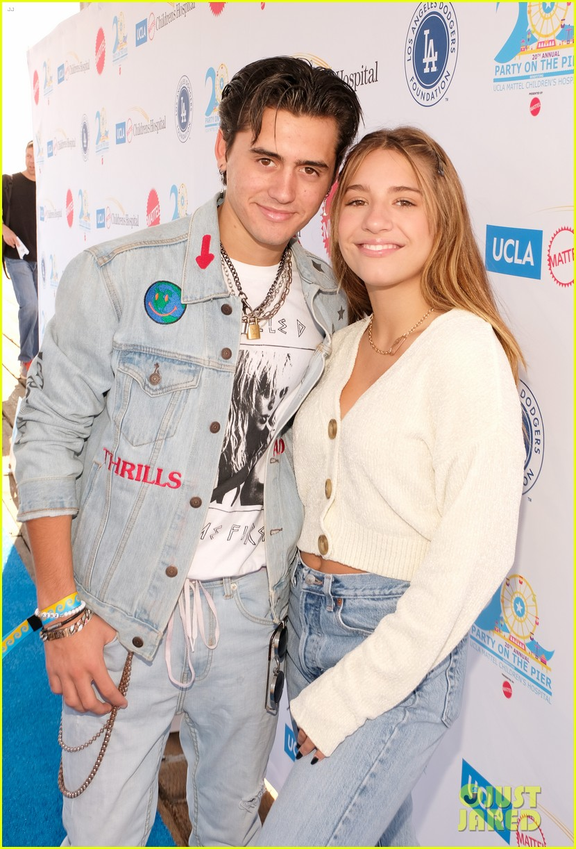 isaak presley kenzie ziegler couple up at ucla party on the pier 23