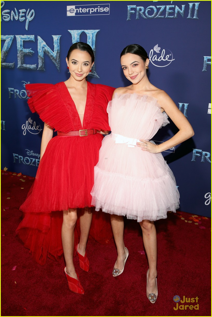 merrell twins influencers freeform stars more frozen premiere 12