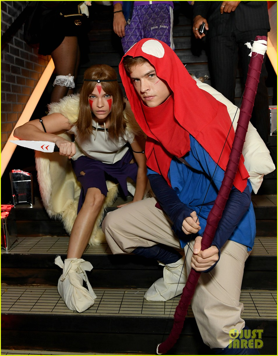 dylan sprouse barbara palvin halloween party 03