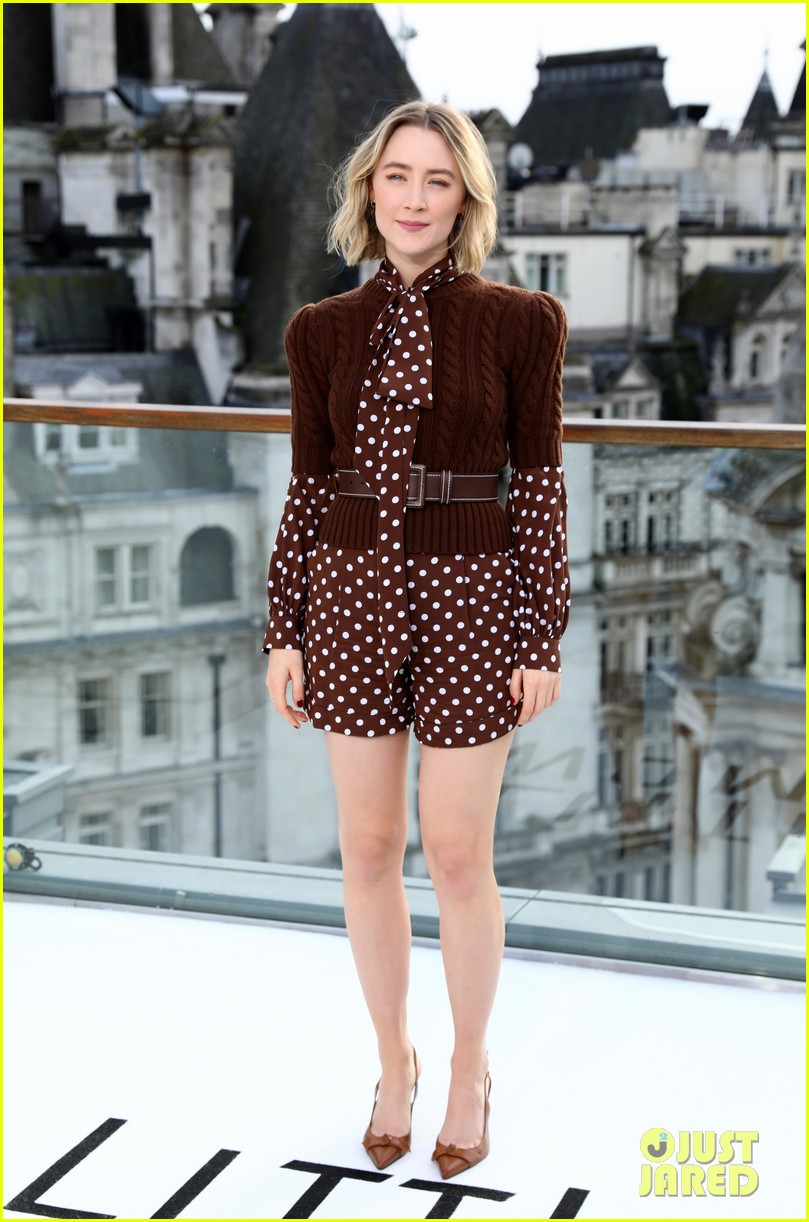 timothee chalamet saoirse ronan florence pugh hit london for little women photo call 03