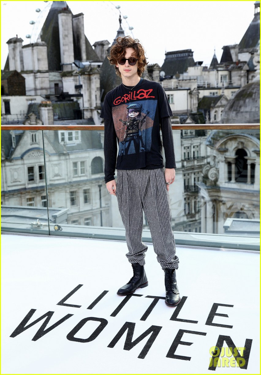 timothee chalamet saoirse ronan florence pugh hit london for little women photo call 06