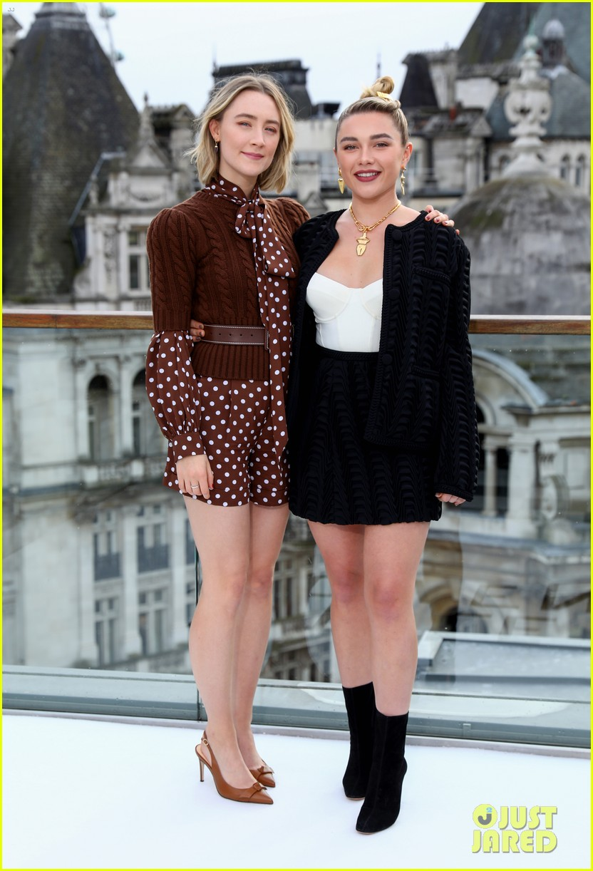 timothee chalamet saoirse ronan florence pugh hit london for little women photo call 14