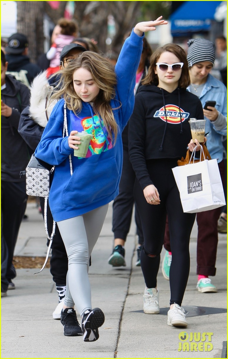 bffs joey king sabrina carpenter have fun after sunday brunch 01