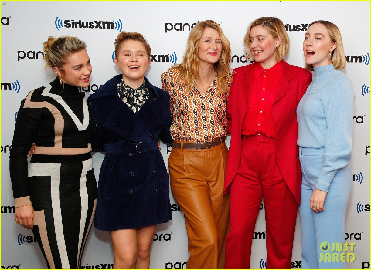 Florence Pugh Na >> Saoirse Ronan Little Women Cast Step Out In Nyc After