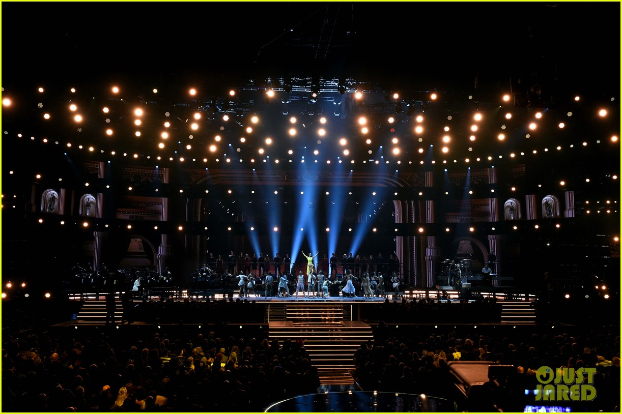camila cabello ben platt perform a fame song for grammys tribute photo 1285420 2020 grammys ben platt camila cabello grammys pictures just jared jr just jared jr
