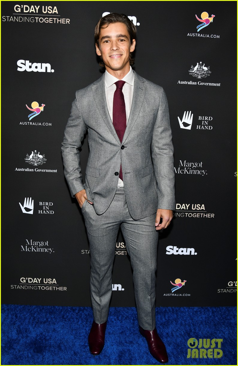 jacob elordi brenton thwaites dacre montgomery suit up for gday usa event 05