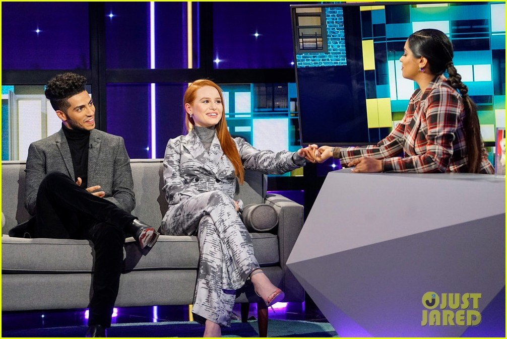 madelaine petsch opens up about doing love scenes with bff vanessa morgan on riverdale 01