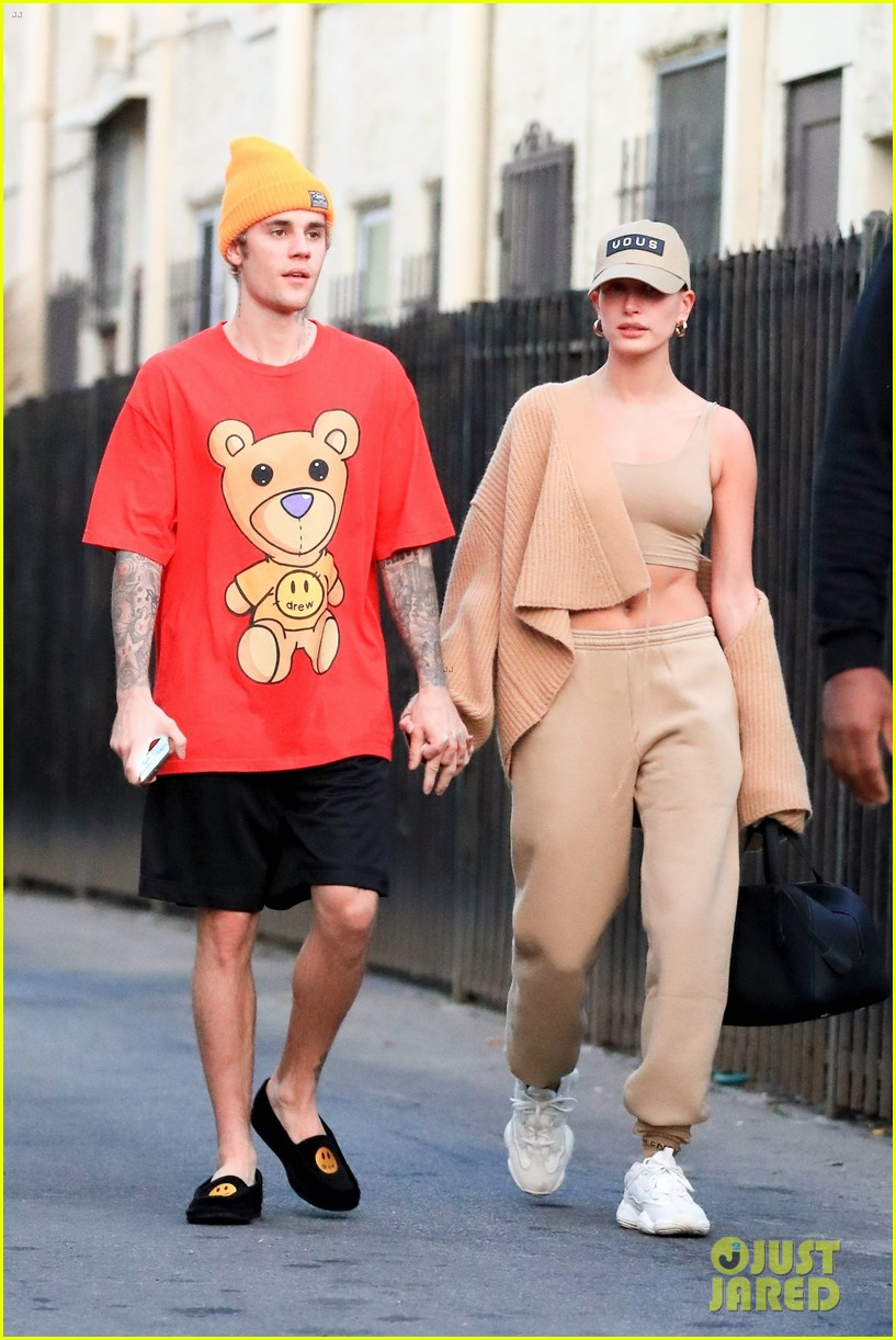 justin bieber clean shaven quality time with hailey 01
