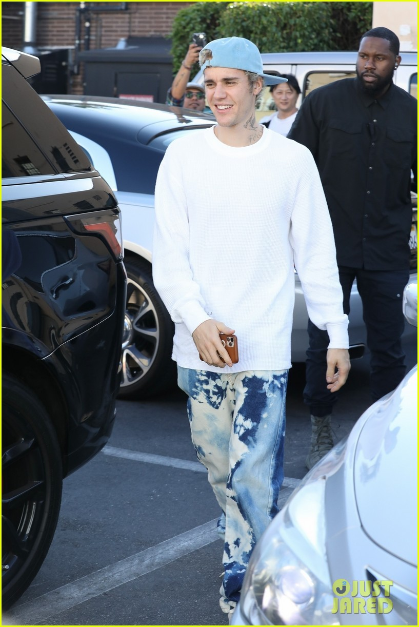 justin bieber clean shaven quality time with hailey 05