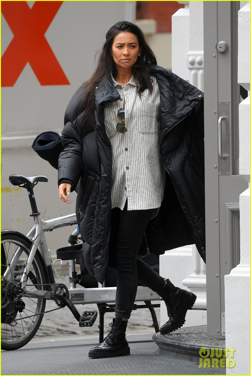 shay mitchell with matte babel in new york 03