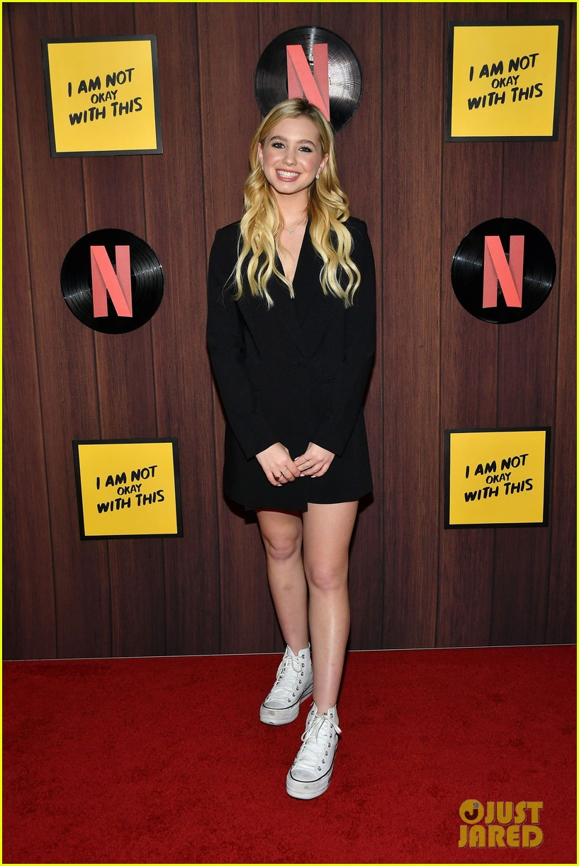 Madelyn Cline attends Netflixs I Am Not Okay With This